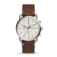 Fossil_ Men's The Commuter Chronograph Brown Leather Strap Watch FS5402 (watch for man / jam tangan lelaki / Fossil_ watch for men / men watch / watch for men)