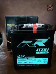 แบตเตอรี่ RR-JTZ8V สำหรับ YAMAHA / Xmax300 , R3 ,MT03 / Honda /Rebel 500 ,Rebel 300 ,CBR300R ,CB300R,CRF250Rally ขนาด 112*69*132mm