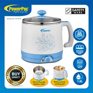 PowerPac Steamboat 1.8L Electric Cooker Multi Cooker noodle cooker with Steam Rack and Stainless Steel Pot (PPJ3018)