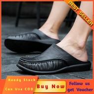 【Promotions】รองเท้าแตะผู้ชายPU Leatherรองเท้ากันลื่น2020รองเท้าใส่บ้านรองเท้าแฟชั่นชายรองเท้าคัชชู