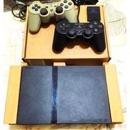 PS2主機(70007薄型)+改機+雙原廠手把+SONY記憶卡8M 相容PS1 少用