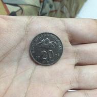 Uang Logam 20 sen Malaysia