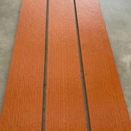 ไม้รั้ว เฌอร่า รุ่นโมเดิร์น ลายเสี้ยน สีโอ๊คแดง หน้า 4 นิ้ว ยาว 1.00 ม. (2 ชิ้น/แพค) 1.50ม.