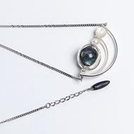 【Agaric Garden】海潮拉長石珍珠項鍊 Tidal labradorite pearl necklace