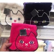 日本Anna Sui 安娜蘇 刺繡 可愛圖騰 100% 純棉 手帕 小毛巾 方巾