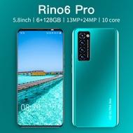 【hp murah cuci gudang】 Rino6 Pro Ponsel 5.0 Inci RAM 6GB ROM 128GB Smart Phone Android dengan Fitur Pembuka Kunci Sidik Jari Pengenalan Wajah handphone promo handphone android murah Rino7 Pro