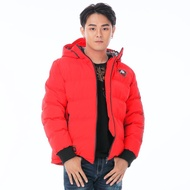 BIG TRAIN黑潮達磨連帽絲棉厚外套-紅-B40183-15