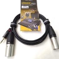 Kabel Jack Akai Mini 3,5 To 2 Jack Canon Jantan 2,5 Meter MEGATRONIC