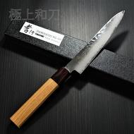 日本進口菜刀 堺孝行 33層槌目櫸柄 大馬士革鋼VG10  和小刀 150mm 7471