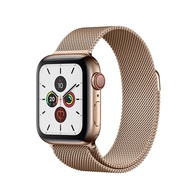 Apple Watch Series 5 Gold Stainless Steel Case with Gold Milanese Loop 40mm GPS + Cellular