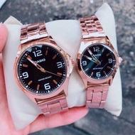 Casio Standard นาฬิกาคู่รัก ชาย-หญิง สายสแตนเลส รุ่นขายดี - มั่นใจ