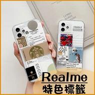 創意軟殼|Realme X50 Realme X50 Pro Realme X3 可愛插畫 標籤 透明防摔殼 掛繩孔 手機殼 空壓殼