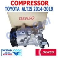 คอมเพรสเซอร์ โตโยต้า อัลติส  2014 - 2019 COM0012 DENSO แท้ 447150-76824D 6SES14C  Compressor  Toyota Altis  Ocean cool 2015 2016 2017 2018 คอมแอร์รถยนต์ คอมแอร์ คอมเพลสเซอร์ R134A CONTROL VALVE