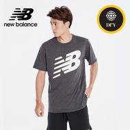 【NEW BALANCE】NB DRY科技棉Logo短袖上衣_AMT01071BK_男款_黑色(亞版 版型正常)