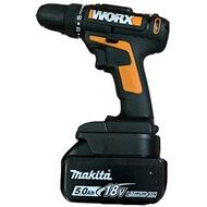 【現貨worx威克士轉接座】牧田Makita 18V锂电池转Worx威克士橙色小脚板洗車機-转接座