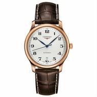 LONGINES 浪琴表 L26288783 巨擘經典優雅機械腕錶/白網紋面 38.5mm