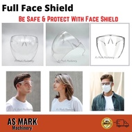 【Ready Stock】Inspired by BLOCC full face shield full face mask large mirror protective mask acrylic full face mask