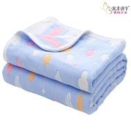 【BB-baby 童裝】六層紗布四季涼被-藍雲朵(嬰幼兒童/寶寶/新生兒/小孩)