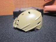 LJ1沙漠部門 傘兵盔1/6帥氣沙色洞洞安全帽一頂(快扣盔帶) mini模型 LT:0896