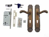 CASA門鎖五金 匣式鎖 連體鎖 嵌入式水平鎖 古銅色鍛造把手 卡巴鑰匙