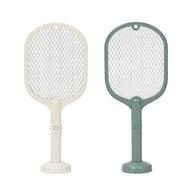 二合一充電式電蚊拍 USB充電 附底座 電蚊拍 捕蚊燈 捕蚊拍 捕蚊器 驅蚊器 驅蚊 滅蚊 LED電蚊拍【U017】