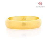 [ผ่อน 0-] OJ GOLD แหวนทองแท้ นน. ครึ่งสลึง 96.5- 1.9 กรัม เกลี้ยง ขายได้ จำนำได้ มีใบรับประกัน แหวนทอง