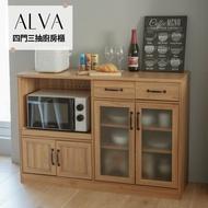 廚房收納/餐廚櫃/收納櫃 Alva四門三抽廚房櫃 完美主義【P0019】