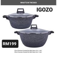 IGOZO Gigantic Granite Pot Set ( CASH ON DELIVERY RM190)