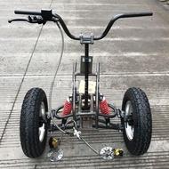 【小洋嚴選】改裝四輪車配件 2輪電動車摩托車改裝倒三輪沙灘車前橋懸掛帶輪胎