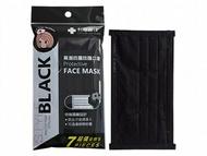 Lin Lian Bandages 利聯醫技 黑潮四層防護口罩(未滅菌)7片裝-非醫療黑色成人口罩【小三美日】◢D160852