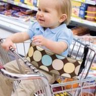外貿原單二款超實用便攜式超市購物車餐椅多用途安全帶銅板價$48