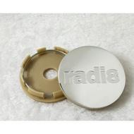 鋁圈蓋radi8輪轂中心蓋 輪蓋 輪轂蓋 輪圈蓋 輪圈貼紙銀色 60MM外徑直徑改裝通用蓋