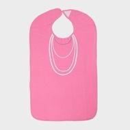 粉紅珍珠項鍊成人防水圍兜禮盒 銀髮/高齡/老人/樂齡/照護