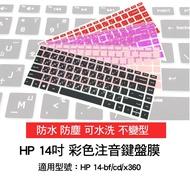 繁體注音 倉頡 彩色 HP Pavilion 14-ba156TX 鍵盤套 鍵盤膜 鍵盤保護膜