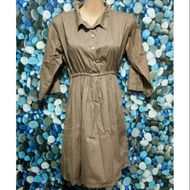 Casual dress 3/4 (brown)