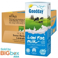 Goodday UHT Milk 1L x 12 - Low Fat