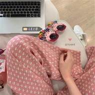 Cotton Cartoon pajama Sleepwear For Adult women Men assorted