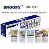 《我愛查理》SNOOPY 史努比 水杯 (五入組) 陶瓷杯 夢時代百貨公司