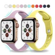 ซิลิโคนบางนิ่มสายนาฬิกาแบบสปอร์ตสำหรับApple Watch 6 5 4 3 2 1 38มิลลิเมตร42มิลลิเมตรวงยางสายรัดนาฬิกาข้อมือสำหรับApple Watch Series 5 4 40มิลลิเมตร44มิลลิเมตร