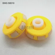 2pcs 51mm OMNI POM พลาสติก Multi ways ทิศทางล้อ 50 มม.Transfer สายพานลำเลียงลูกกลิ้งตาราง ABS ไนลอน OMNI ล้อ