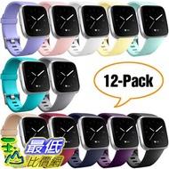 [8美國直購] 錶帶 Hamile Bands Compatible for Fitbit Versa/Versa 2/Lite/SE, (12 Pack) Classic Soft Watch Bands B07Q5DX5DX