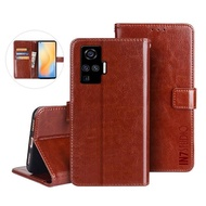【IN7】瘋馬紋 vivo X50 Pro 6.56吋 錢包式 磁扣側掀PU皮套 手機皮套保護殼(吊飾孔 插卡皮套)