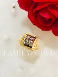 Family Gold 916 Biscuit Cincin R050 / 916 Biscuit Ring R050