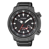 Citizen Men's Eco-Drive Stainless Steel Black Ion Plating Promaster Land GMT Watch BJ7086-57E