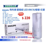 【立明 LED】飛利浦 23W 電子式壁燈 附飛利浦E27 23W 3U燈泡 或 LED 8W球泡 壁燈 陽台燈 走道燈