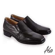 【A.S.O 阿瘦集團】菁英通勤  超寬楦方鞋頭真皮鞋(咖啡)