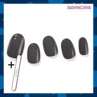 Dashing Diva - Glaze ZMC090 迷霧黑(Gel甲片,需照燈) 加配 品牌指甲銼