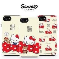 Hello Kitty 蝴蝶結 雙層防摔 手機殼│iPhone X XS MAX XR 11 Pro│z8557