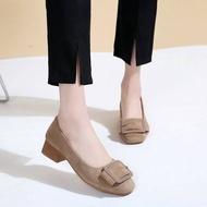 🎀 รองเท้าคัชชู รองเท้าผู้หญิง รองเท้ากำมะหยี่ No.F089 🎀