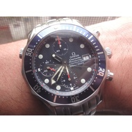 OMEGA Seamaster 大海馬 41.5mm 計時碼錶 自動上鍊 錶框漂亮 原廠保卡